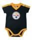 Steelers Player Jersey Baby Bodysuit--Shoulder Stripe
