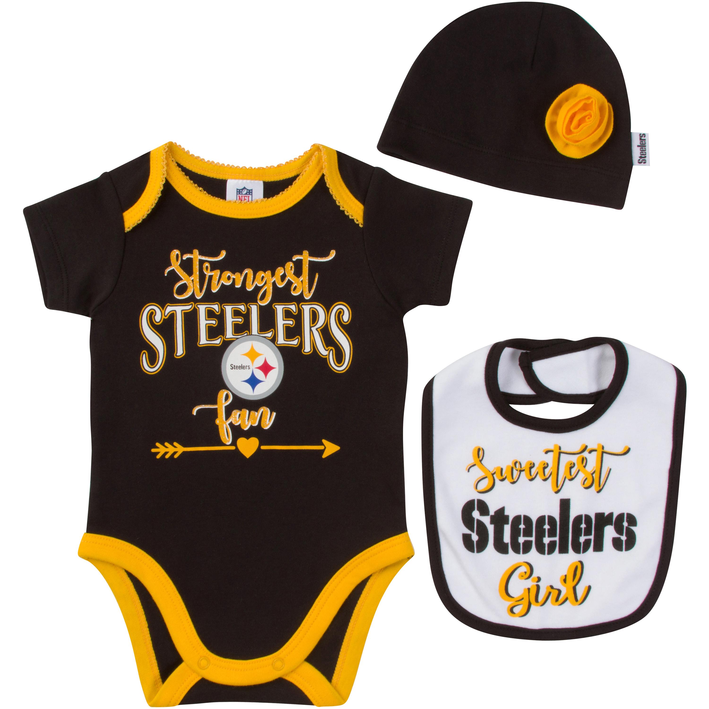 steelers-nfl-infant-bodysuit-bib-cap-set-girl-rose-official