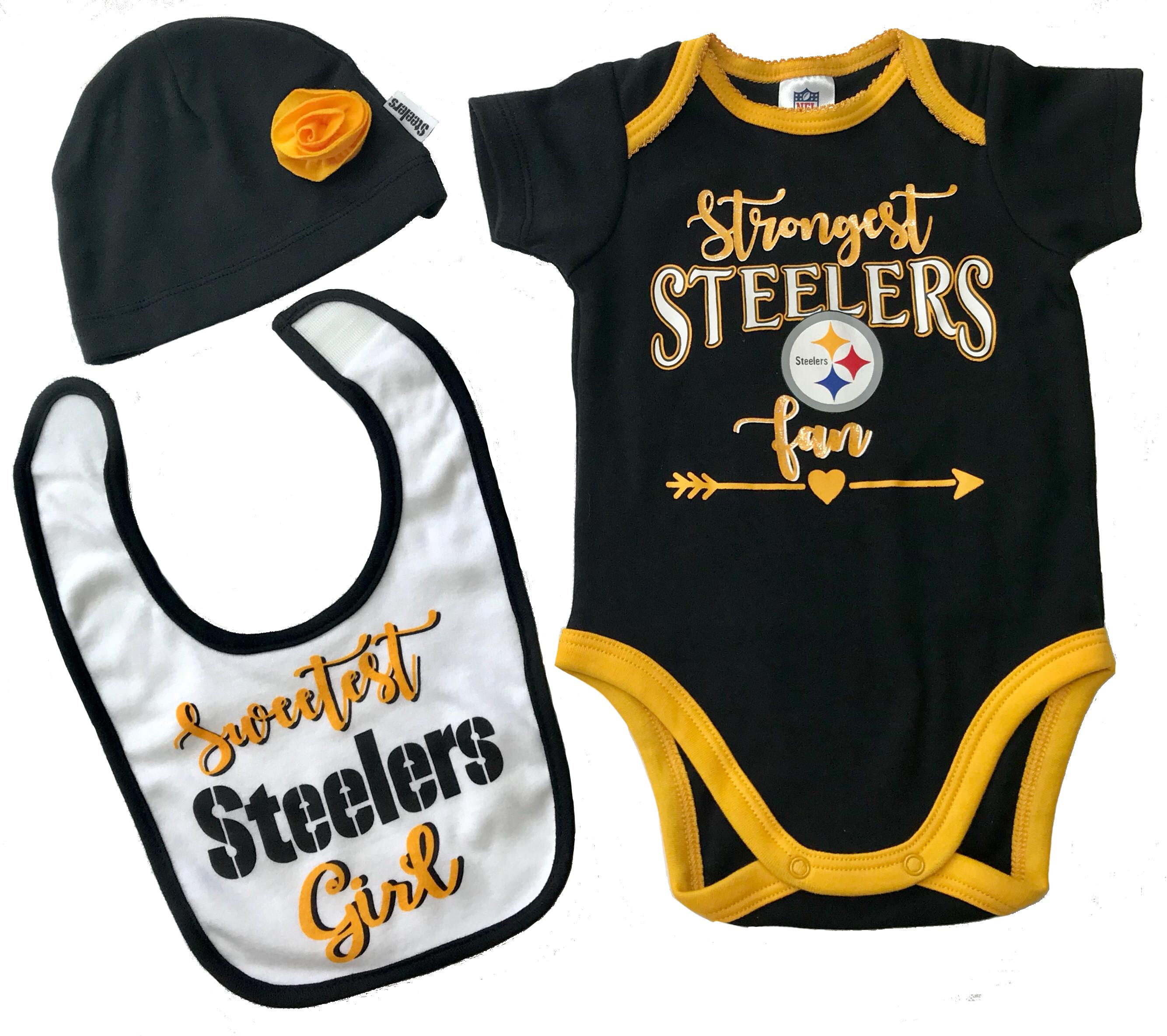 steelers-nfl-infant-bodysuit-bib-cap-set-girl-rose