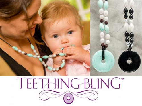 Teething Bling Beaded Necklace