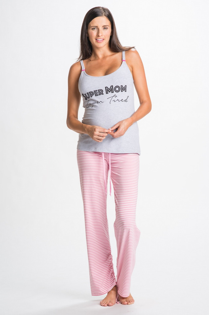 Super Mom Nursing PJs from You! Lingerie